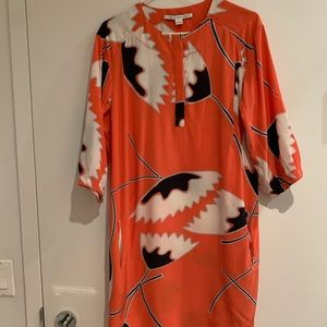 Silk Poppy DVF dress